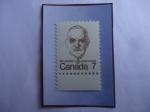 Stamps America - Canada -  St.Laurent - (Louis Stephen Saint Laurent-1882-1973)-Abogado- Primer Ministro en 1948/57 - Serie: Ca
