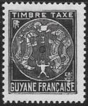 sello : America : Guayana_Francesa : timbre taxe