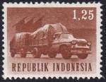 Sellos del Mundo : Asia : Indonesia : camión y remolque
