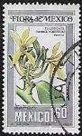 Stamps : America : Mexico :  Tlilxóchitl, flor de la vainilla.