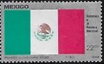 de America - México -  Homenaje a la bandera nacional.
