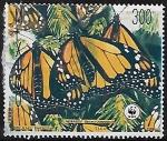 Stamps : America : Mexico :  Mariposa monarca.