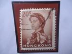 Sellos del Mundo : Asia : Hong_Kong : Queen Elizabeth II - Serie 1962-1972- Sello de 20 Centavos de Hong Kong.
