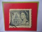 Sellos del Mundo : America : Canadá : Queen Elizabeth II - Edificio de la Biblioteca del Parlamento - Serie: 1967-1973