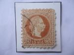 Sellos del Mundo : Europa : Austria : Franz Joseph (1830-1916)- Serie: Emperador francisco José (1867/84)- Sello de 15 kreuzer Austro-Húng