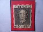 Sellos del Mundo : Europa : Holanda : Queen Juliana (1909-2004) - Serie: 1949-1957 - Sello de 2,1/2 Florín Holandés.