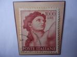 Sellos del Mundo : Europa : Italia : Escultura de Michelangelo - Cabeza de Eva.