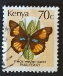 Stamps Kenya -  Mariposas