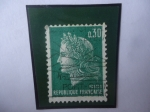 Sellos del Mundo : Europa : Francia : Marianne (Del pintor Francés Henry Cheffer-1880-1955) - Serie: Marianne de Cheffer