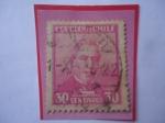 Stamps America - Chile -  Dr. José Joaquín Pérez (1801-1889)- Abogado y Político-Presidente (1861-1871)-Senador- Serie: Person