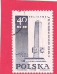 Stamps : Europe : Poland :  Monumento a los Partisanos de la Guardia Popular en Polichno