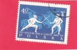 Stamps : Europe : Poland :  Esgrimistas y caballeros en armadura