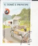 Stamps : Africa : São_Tomé_and_Príncipe :  125 aniv, de Cruz Roja