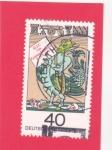 Stamps : Europe : Germany :   Hans Jacob Christoff von Grimmelshausen, escritor