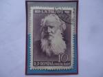 de Europa - Rumania -  Leo Nikolayevich Tolstoy (1828-1910)- Novelista Ruso - Serie: Aniversario Cultural- 1960.