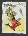 sello : America : Nicaragua : Futbol
