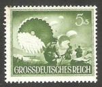 Stamps : Europe : Germany :  793 - Día de los héroes, Paracaidistas