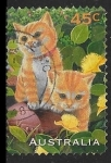 Stamps : Oceania : Australia :  Felinos - Ginger Cat