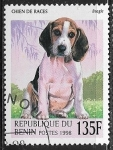 Stamps : Africa : Benin :  Perros - Beagle