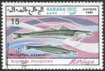 Stamps : Africa : Morocco :  peces
