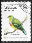 Stamps : Asia : Laos :  Aves - Treron bicinctus