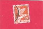 Sellos de Europa - Suiza -  Paloma de la paz en una espada rota (Símbolo de la Paz)
