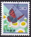 Stamps : Asia : Japan :  mariposa lycaena phleas