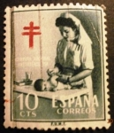 Stamps Spain -  Pro Tuberculosos