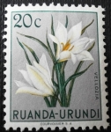 Stamps Rwanda -  Flor indígena