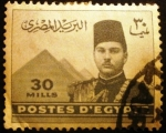 Stamps Egypt -  Rey Farouk y Pirámide de Gizeh