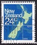 Stamps : Oceania : New_Zealand :  mapa Nueva Zelanda