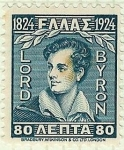Stamps Greece -  Lord Byron