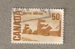 Stamps America - Canada -  Casa cubiertas nieve