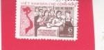 Stamps Vietnam -  Votantes y mapa