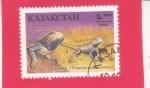 Stamps : Asia : Kazakhstan :  Estepa Agama (Trapelus sanguinolentus)