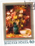 Stamps : Europe : Hungary :  pintura-flores
