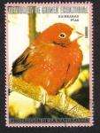 Stamps : Africa : Equatorial_Guinea :  Aves australianas, Amandina del Collar