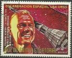 Stamps : Africa : Equatorial_Guinea :  Cooperación espacial Estados Unidos / URSS, John Glenn