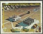 Stamps : Africa : Equatorial_Guinea :  La cooperación espacial EE.UU. / URSS, estación Lunar