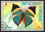 Stamps : Africa : Equatorial_Guinea :  Mariposas (III) 1976, Hoja de roble naranja (Kallima inachus)