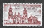 Stamps : Europe : Spain :  Edif 1997 - Forjadores de América. México