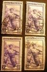 Stamps Italy -  Profesiones. Fisherman, Vesuvius (Campania)