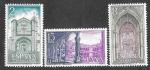Stamps : Europe : Spain :  Edif 2111-2112-2113 - Monasterio de Santo Tomás. Ávila