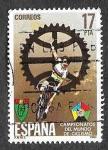 Stamps : Europe : Spain :  Edif 2772 - Campeonato del Mundo de Ciclismo