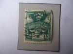 Stamps : Europe : Czechoslovakia :  Paloma Mensajera - Sello de 25 Halir Checoslovaco, año 1920.