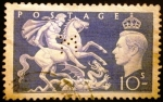 Stamps Europe - United Kingdom -  Rey Jorge VI.  St. George and the Dragon