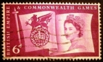 Stamps Europe - United Kingdom -  Juegos de la Commonweal. Flag and Games Emblem