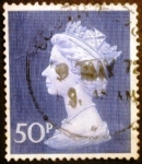 Stamps Europe - United Kingdom -  Reina Isabel II. Large Machin