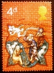 Stamps Europe - United Kingdom -  Shepherds and Apparition of Angel