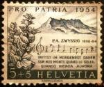 Stamps Europe - Switzerland -  Pro-patria. Swiss Psalm of the composer Zwyssig